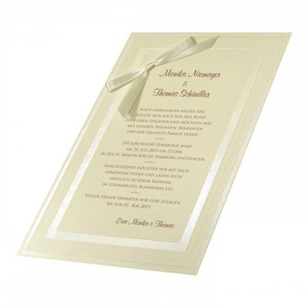 Klassische Hochzeitskarte Nr. 15
