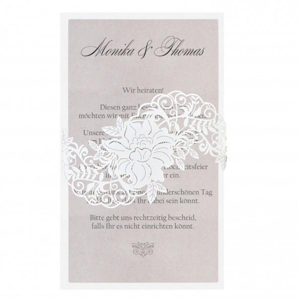 Moderne Hochzeitskarte Nr. 73