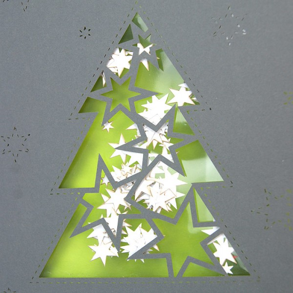 Kreative Weihnachtskarte FS787sc