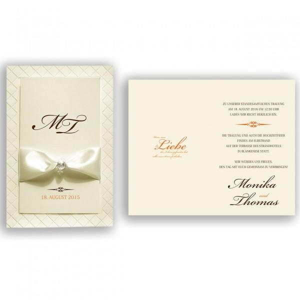 Designer Hochzeitskarte Nr. 4