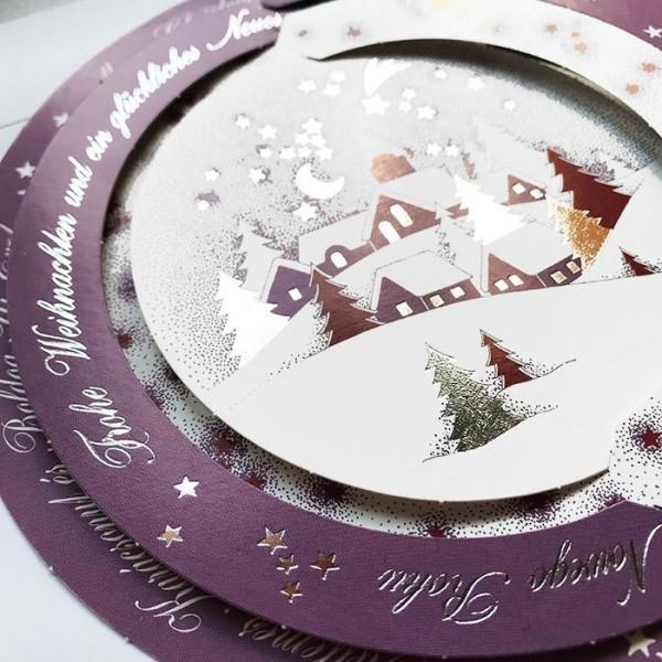 Kreative Weihnachtskarte/Weihnachtskugel H1263