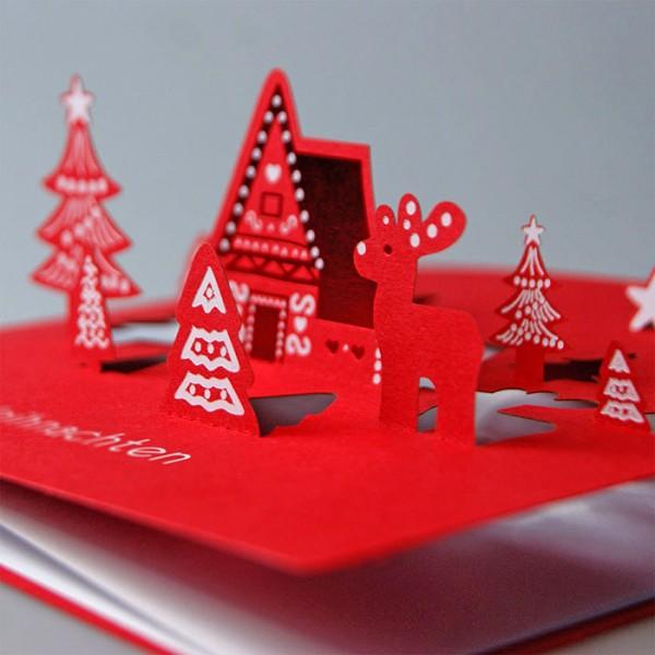 Kreative Weihnachtskarte FS751c