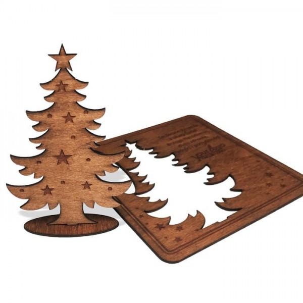 Kreative Weihnachtskarte aus Holz FS1037