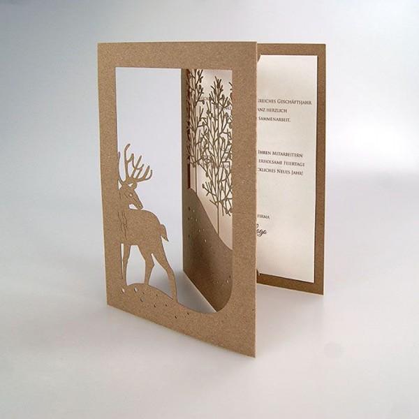 Kreative Weihnachtskarte FS888