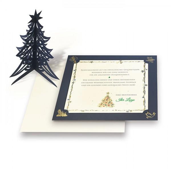 Kreative Weihnachtskarte mit Weihnachtsbaum FS1026