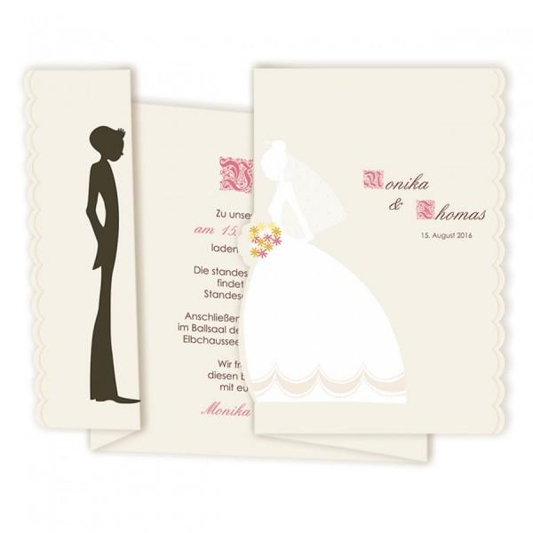Vintage Hochzeitskarte Nr. 4