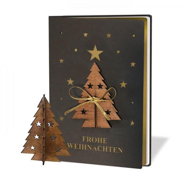 Kreative Weihnachtskarte mit Weihnachtsbaum FS1018