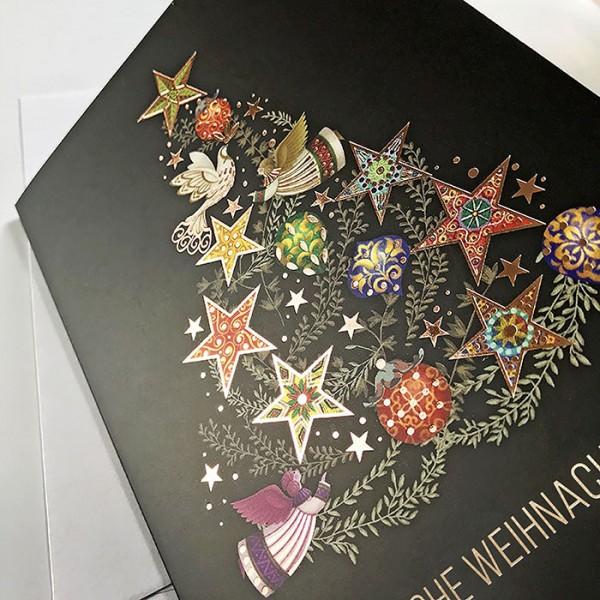Designer Weihnachtskarte Fs994