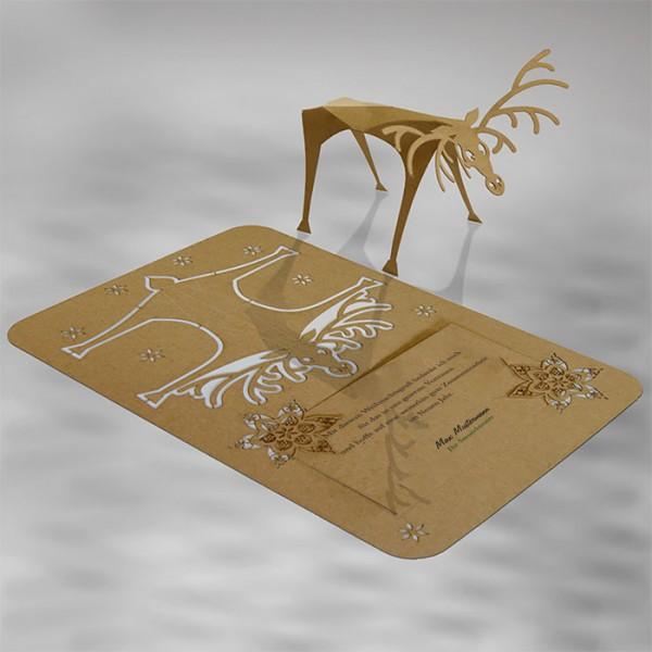 Kreative Weihnachtskarte FS559