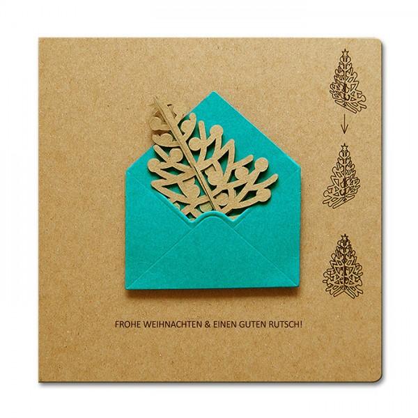 Kreative Weihnachtskarte FS716